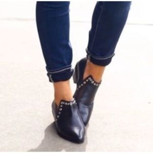 Rebecca Minkoff Annette Leather Ankle Boot Booties